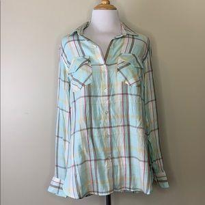 Jessica Simpson   Petunia Button-Up Shirt M